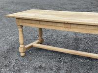 Large Bleached Oak Farmhouse Dining Table with Extensions & Storage (12 of 35)