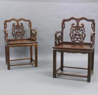 Pair of Chinese Qing Dynasty, Hongmu Chairs (4 of 6)