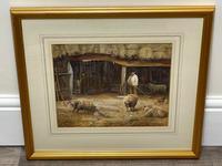 "Watercolour ""Tending The Sheep"" By Bertha Rhodes RA Rca Exh 1905 -1912 (6 of 41)"