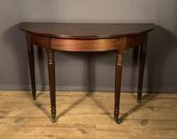 Regency mahogany Demi lune console table (3 of 8)