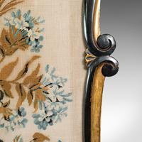 Antique Fireside Screen, English, Panel, Needlepoint, Tapestry, Regency c.1820 (7 of 12)