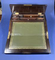 William IV Rosewood Lap Desk, Inlaid with Mother of Pearl (13 of 14)