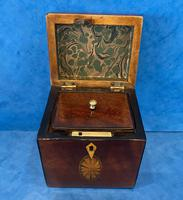 18th Century Harewood Inlaid Single Mahogany Tea Caddy (14 of 18)