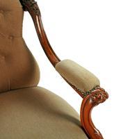 Victorian Rosewood Gent's Armchair (7 of 8)