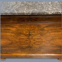 Figured Walnut Marble Top Commode (3 of 9)