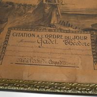 Antique Pair of Framed Certificates, French, Award of Honour, WW1 c.1918 (8 of 9)