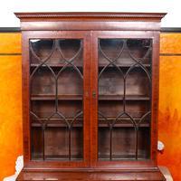 Secretaire Bureau Bookcase Astragal Glazed Mahogany (2 of 17)