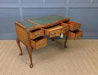 Good Queen Anne Style Burr Walnut Writing Desk (7 of 18)