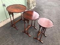 Antique Mahogany Nest 3 Tables (10 of 10)