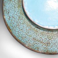 Antique Decorative Plate, Japanese, Cloisonne, Fruit, Serving Dish, Victorian (9 of 9)
