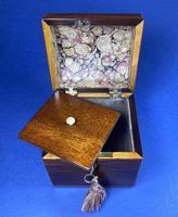 George III Partridge Wood Tea Caddy (3 of 12)