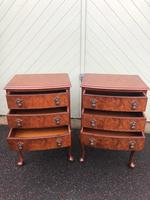 Pair of Antique Burr Walnut Bedside Chests (9 of 9)