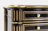 19th Century Ebonised and Brass Inlaid Desk (6 of 11)