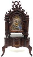 Unusual Rare 18th Century Austrian Verge Table Mantel Clock Pull Alarm (13 of 14)