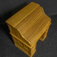 Small Oak Roll Top Desk (8 of 12)