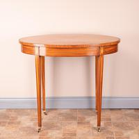Inlaid Oval Satinwood Occasional Table (4 of 15)