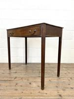 Antique Georgian Oak Side Table with Drawer (7 of 10)