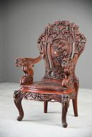 Large Japanese Carved Throne Chair (2 of 12)