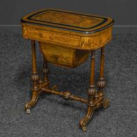 Victorian Walnut Games / Sewing Table (4 of 8)