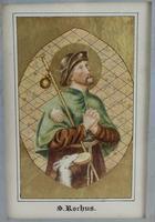 Antique Illuminated Watercolour of Saint Rochus (7 of 7)