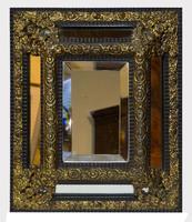 Flemish Cushion Frame Ebonised Mirror (4 of 4)