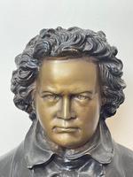 Classical Music Interest German Bronze Composer Ludwig Van Beethoven Bust Sculpture (8 of 25)