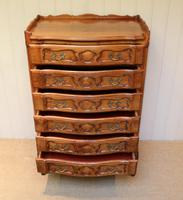 French Cherry Wood Tall Chest of Drawers (5 of 12)