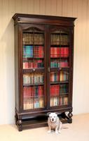 Tall Oak Glazed Bookcase (4 of 10)