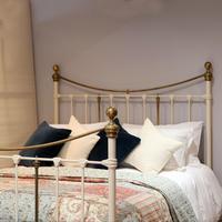 Decorative Victorian Antique Bed in Cream (2 of 6)