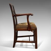 Antique Carver Chair, English, Mahogany, Needlepoint, Elbow, Chippendale Style (11 of 12)
