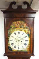 18th Century Scottish 8 Day Longcase Clock Flame Mahogany Painted Dial Grandfather Clock (2 of 7)
