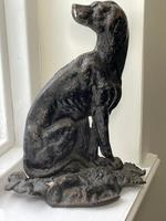 19th Century Country House Seated Hound Dog Cast Iron Door Stop (3 of 37)