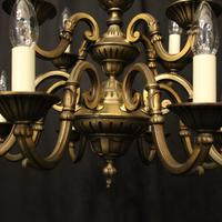 French Gilded Brass 12 Light Tiered Chandelier Oka04098 (3 of 10)