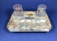 Victorian Mother of Pearl & Abalone Inkstand (11 of 15)