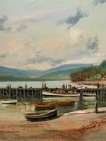 'The Lake District' Exceptional Vintage Seascape Oil On Canvas Painting c1960' (6 of 12)