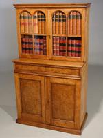 Beautifully Made Late 19th Century Oak & Burr Oak Small Bookcase Cabinet