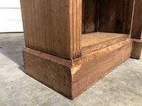 Oak Breakfront Open Bookcase (13 of 20)