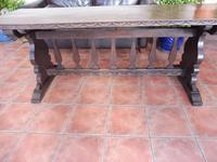 Country Oak Tefectory Table 7 foot long 1880 (6 of 10)