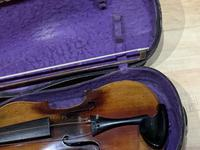 Violin & Case with Bow Victorian (7 of 12)