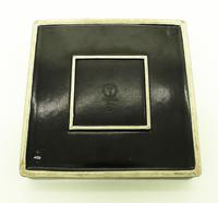 "Stig Lindberg - Gustavsberg Scandinavian Art Pottery 8""sq Domino Dish c.1955 (4 of 5)"