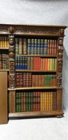 Outstanding Carved Oak Open Library Bookcase (9 of 16)