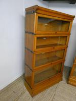 Set of Four Oak Globe Wernicke Bookcases (7 of 11)