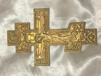 Fine Religious Russian Orthodox Ormolu Gilt Bronze Christ Cross (6 of 19)