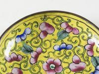 Antique Canton Enamel on Copper Dish (3 of 4)