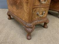 Burr Walnut Pedestal Desk by Maple and Co (12 of 18)