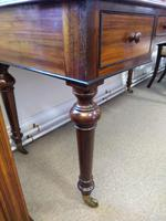 Early Victorian Three Drawer Writing Table (5 of 5)