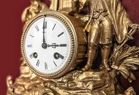 Lovely 1860's French Spelter Striking Figurine Mantel Clock by Japy Frères (3 of 7)