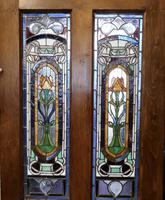 Victorian Art Nouveau Stained Glass Panel Door (5 of 9)