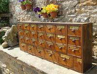 Charming Set of Antique Apothecary Drawers (4 of 10)