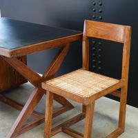 X- Leg Administrative Desk by Pierre Jeanneret c.1960 (6 of 7)